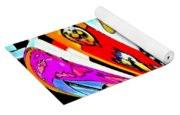 Notre Debut Abstract Yoga Mat