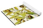 Nutmeg Plant Botanical Yoga Mat