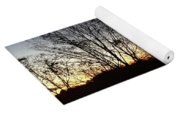 October Sunset Trees Silhouettes Yoga Mat