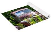 Old Rusty Cars Yoga Mat