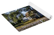 Old Time Farm And Cotton Fields Yoga Mat