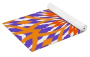 Orange And Purple Kaleidoscope Yoga Mat