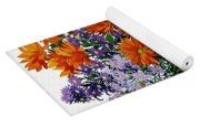 Orange Chrysanthemums Yoga Mat
