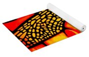 Orange Dragonfly Yoga Mat