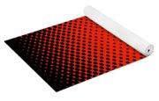Optical Illusion - Orange On Black Yoga Mat