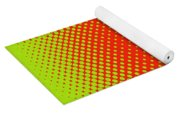 Optical Illusion - Orange On Lime Yoga Mat