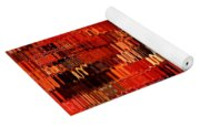 Orange Under Glass Abstract Yoga Mat