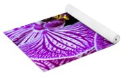 Orchids On Black Background Yoga Mat