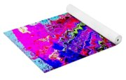 Out Of The Blue Wave Abstract Yoga Mat