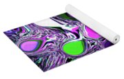 Paint Ball Color Explosion Purple Yoga Mat