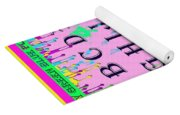 Paint Spattered Primary Learning Yoga Mat