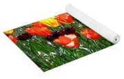 Painted Sunlit Tulips Yoga Mat