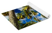 Palm Trees And Colorful Building Yoga Mat