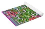 Paper Flowers Yoga Mat