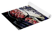 Park Bench With Flowers Yoga Mat