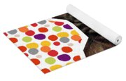 Party Animal - Smaller Cat With Confetti Yoga Mat