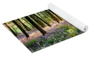 Sunrise Path Through Bluebell Woods Yoga Mat