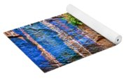 Pattern On Wet Canyon Wall From River Walk In Zion Canyon In Zion National Park-utah  Yoga Mat