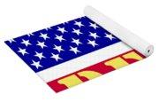Peace The American Flag Yoga Mat
