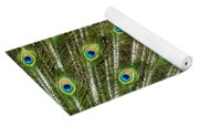 Peacock Feather Abstract Pattern Yoga Mat