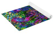 Peacock Feather Abstract Yoga Mat