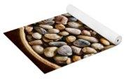 Pebbles In Wood Bowl Yoga Mat