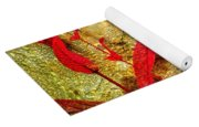 Penstemon Abstract 4 Yoga Mat