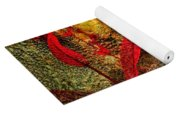 Penstemon Abstract 5 Yoga Mat
