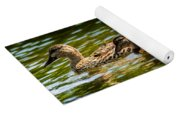 Photography Painting Of Mother And Her Ducklings Yoga Mat