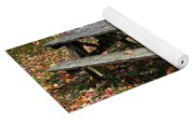 Picnic Table In Autumn Yoga Mat