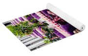 Pink And Purple Dining Yoga Mat