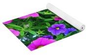 Pink And Purple Petunias Yoga Mat