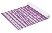 Pink And White Paper Yoga Mat