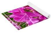 Pink Cleome Flower Yoga Mat