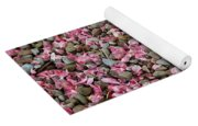 Pink Petals On Stones  Yoga Mat