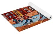 Pointe St. Charles Hockey Rink Southwest Montreal Winter City Scenes Paintings Yoga Mat