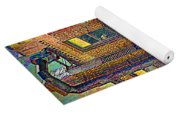 Pointillism In Steel And Brick Yoga Mat