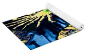 Pond Lily Pad Abstract Yoga Mat