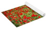 Poppies In Wheat Yoga Mat