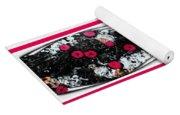 Poppy Jasper Stone Painting With Borders 7 Yoga Mat