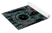 Post-historical Rock Art Yoga Mat