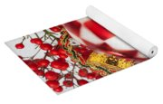 Pretty Christmas Ornament Yoga Mat