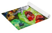 Prickly Pear Cactus And Friends, Southwestern Region Yoga Mat