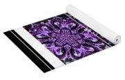 Purple Abstract Flower Garden - Kaleidoscope - Triptych Yoga Mat