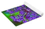 Purple Allium Flower Yoga Mat