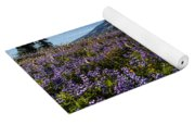 Purple Fields Forever And Ever Yoga Mat
