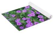 Purple Flowers Yoga Mat