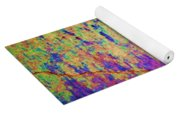 Purple Tan Stone Abstract Yoga Mat