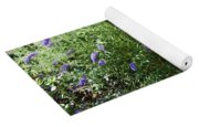 Purple Wild Flowers 1 Yoga Mat