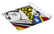 Queen Of Spades Collage Yoga Mat